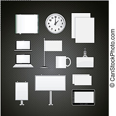 Set of corporate identity templates vector illustration