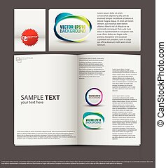 set of corporate identity templates vector illustration...