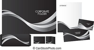 set of corporate identity