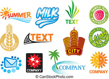 set of corporate symbols