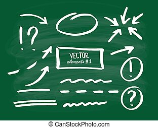 Set of correction and highlight elements, part 1. Circles,...
