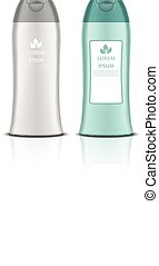 Set of Cosmetic bottles