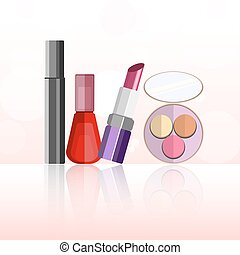 Set of cosmetic product, vector isolated objects