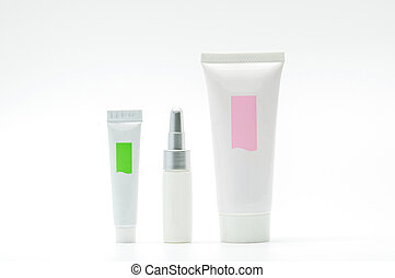Set of cosmetic tube with blank label