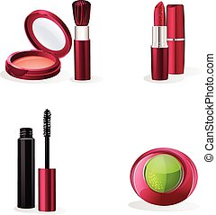 Set of cosmetics makeup