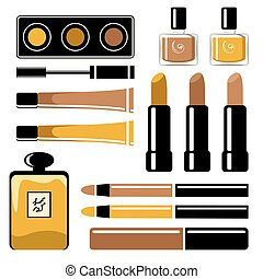 Set of cosmetics on a white background