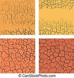 Set of cracks backgrounds - Set of backgrounds with cracks
