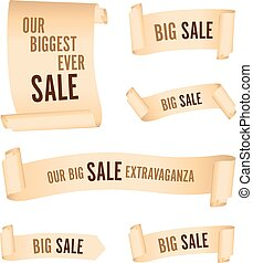 set of cream sale banners
