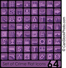 Set of crime icons