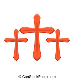 set of crosses catholics