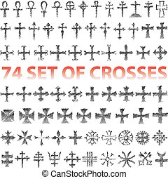 Set of Crosses pencil scribble
