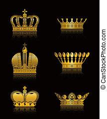 Set of Crowns, vector