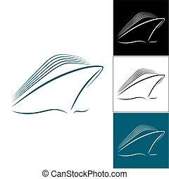 Set of cruise liner logos