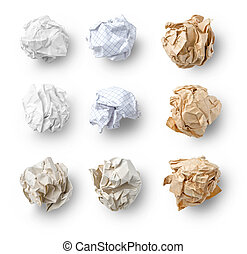 Set of  Crumpled Paper