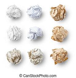 Set of  Crumpled Paper