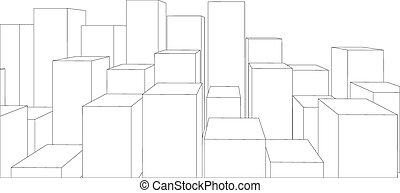 Set of cubes on white. Vector