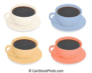 Set of Cups of coffee