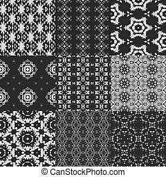 Set of curtain lace seamless generated textures