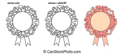Set of cute cartoon frame templates with textile ruffles, beads and ribbon.