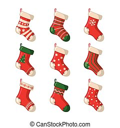 Set of cute Christmas socks. - Set of cute Christmas socks...