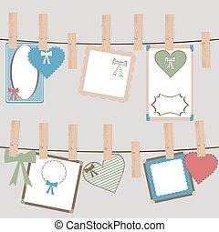 Set of cute frames for girls