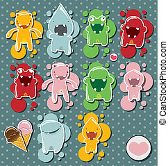 Set of cute little monsters