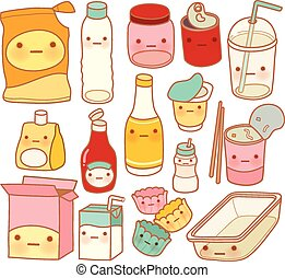 Set of Cute Rubbish