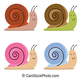 snails - set of cute snails