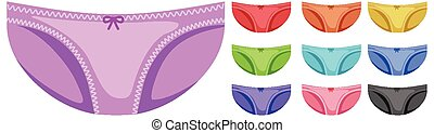Set of cute underwear different color