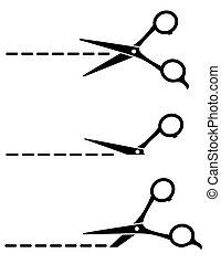 set of cutting scissors