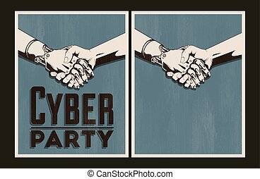 Cyber party posters