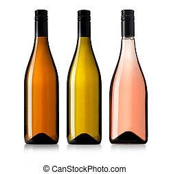 Set of d wine bottles.