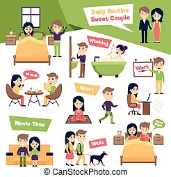 Set Of Daily People - Poster with images set of people daily...