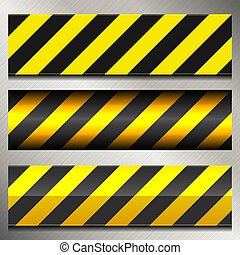Set of Danger and Police Warning Lines. Vector