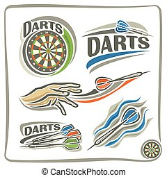 Set of darts - A set of illustrations on the theme of darts