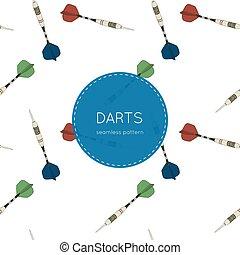 Set of darts. Vector illustration.seamless pattern.