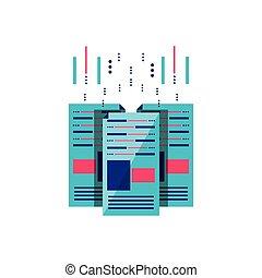 set of data center isolated icon