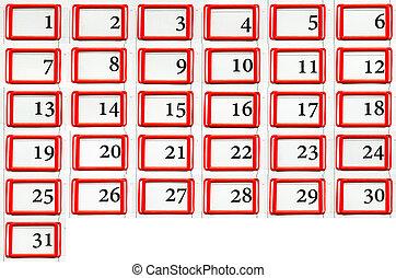 set of dates
