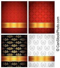 set of decorative backgrounds