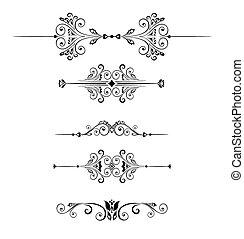 Set of decorative border