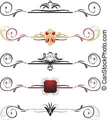 Set of decorative borders