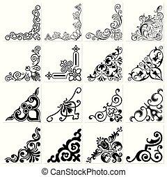 Set of decorative corners