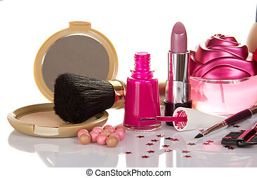 Set of decorative cosmetics - The set of decorative ...