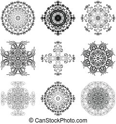 Set of decorative elements - Illustration of decorative ...
