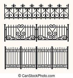 Set of decorative fences
