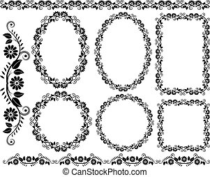 design elements - set of decorative floral frame - design...