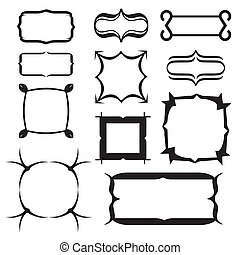 set of decorative frame. Vector illustration