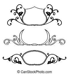 Set of decorative frame