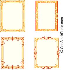 Set of Decorative frames and borders set
