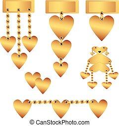 Set of decorative gold